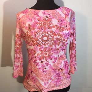 Charter club floral top petite small